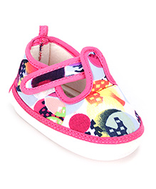 Little's Musical Booties With Velcro Closure - Pink