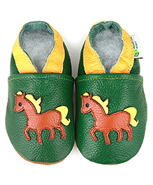 Augusta Baby Green Pony Shoes