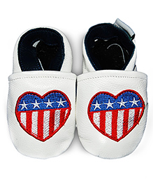 Augusta Baby White American Heart Shoes