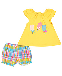 Peanut Buttons Yellow Ice Cream 2 Piece Set