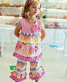 RuffleButts Pink Livy Tunic