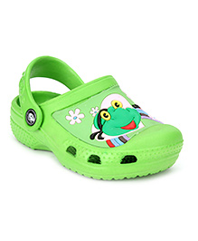 Cute Walk Clogs Frog Print - Green