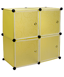 Storage Rack With Four Shelves - Yellow