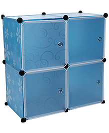 Storage Rack With Four Shelves - Blue