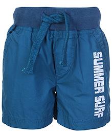 Babyhug Shorts Summer Surf Print - Steel Blue