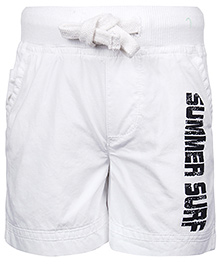 Babyhug Shorts Summer Surf Print - White