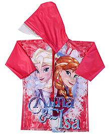 Disney Princess Full Sleeves Raincoat Princess Print - Pink
