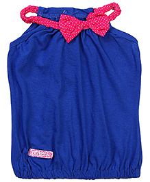 Little Kangaroos Square Neck Top Bow Design - Blue