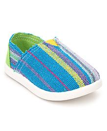 Cute Walk Casual Slip-On Shoes Vertical Stripes - Blue