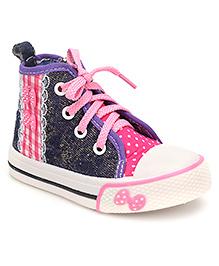 Cute Walk Sneaker Shoes Buttery Applique - Purple