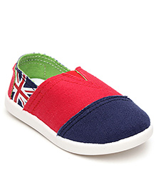 Cute Walk Casual Slip-On Shoes Dual Color Stripes - Navy