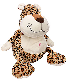 Play And Pets Leopard Plush Backpack Brown - Length 36 cm