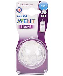 Avent Teat Natural Medium Flow - Pack Of 2