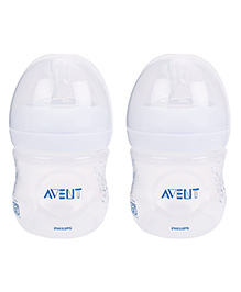 Avent Natural Plastic Baby Bottle Pack Of 2 - 125 ml