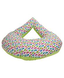 Morisons Baby Dreams Feeding Pillow Elephant Print - Green