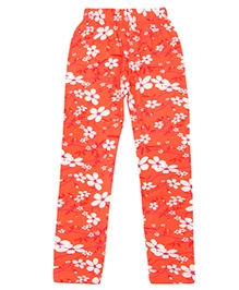 Earth Conscious Leggings Floral Print - Red