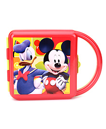 Mickey Mouse And Friends Lunch Box With Handle - Red
