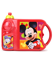 Mickey Mouse And Friends Lunch Box And Water Bottle Set - Red