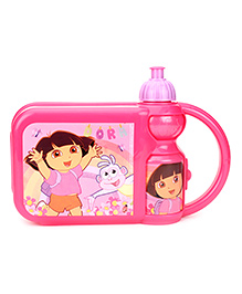 Dora Lunch Box And Water Bottle Set - Pink