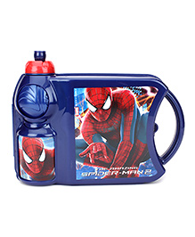 Spider Man Lunch Box And Water Bottle Set - Navy Blue