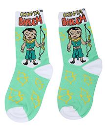 Chhota Bheem Printed Socks - Green