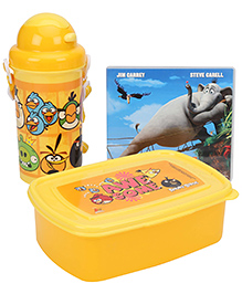 Angry Birds Lunch Box Kit With Free Movie CD - Red