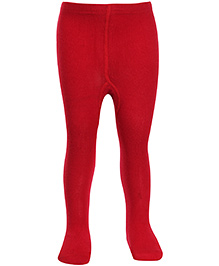 Bonjour Solid Footed Stocking Tights - Red