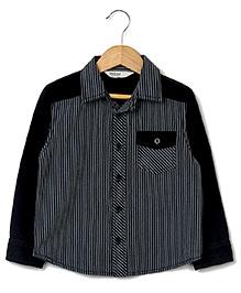 Beebay Striped Corduroy Shirt - Black