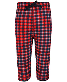Ollypop Drawstring Bermuda Legging Checks - Red