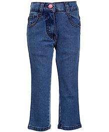 Babyhug Jeans Embroidered Logo - Sky Blue