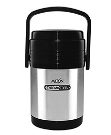 Milton Thermosteel Hot Meal 3 Container Lunch Box - Black And Grey