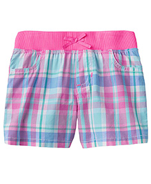 Jumping Beans Pink & Blue Checks Shorts