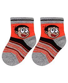 Bonjour Ankle Socks Nobita Design - Grey