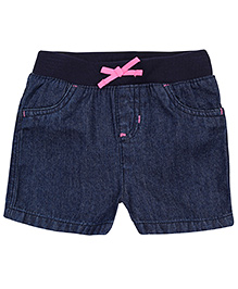 Jumping Beans Pink Bow Navy Shorts
