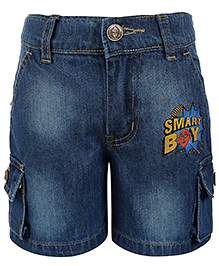 Motu Patlu Six Pocket Denim Bermuda - Light Blue