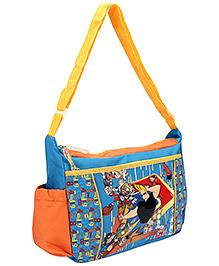 Johnny Bravo Messenger Bag Blue - Height 10 inches