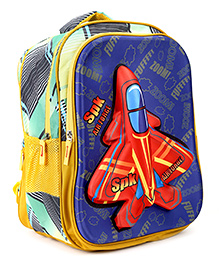 Bags & Baggage School Bag Blue And Yellow - 17.7 Inches