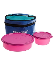 Signoraware New Classic Small Lunch Box With Bag Multi Color - 550 Ml