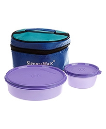 Signoraware New Classic Small Lunch Box With Bag Purple - 550 Ml