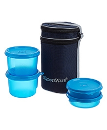 Signoraware Executive Lunch Box Set With Bag T Blue - 15 Cm
