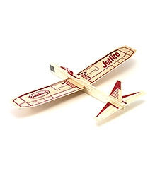 Guillow's Jetfire Hand Soaring Glider Airplane - Red And Brown