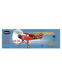 Guillow's Piper Super Cub 95 Semi Scale Rubber Powered Balsa Wood Model Plane Kit