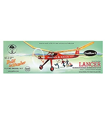 Guillow's Lancer Semi Scale Rubber Powered Balsa Wood Model Plane Kit