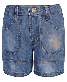 Motu Patlu Denim Bermuda Shorts - Light Blue