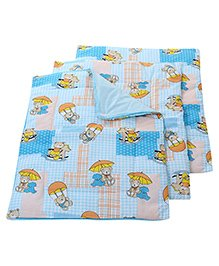 Babyhug Multi Purpose Baby Mat Teddy Bear Print Set Of 4