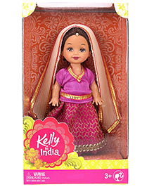 Barbie Kelly In India Doll Purple - Height 11 Cm