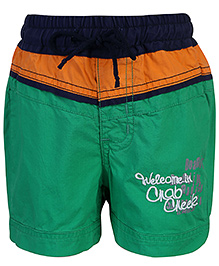 Babyhug Pull Up Shorts Three Colour Design - Green