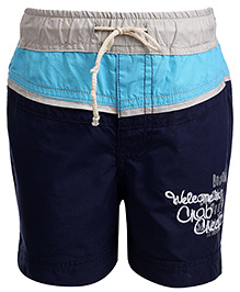Babyhug Pull Up Shorts Three Colour Design - Navy Blue