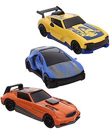 Majorette Friction Razers Cars Pack of 3 - Blue Orange Yellow
