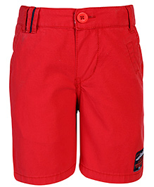 Nauti Nati Shorts With Logo Patch - Red